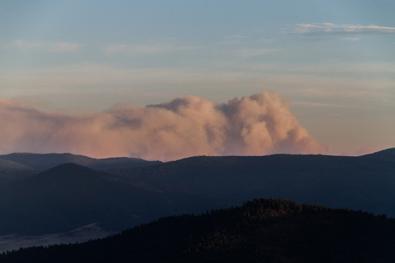 Aug 20th picture of Smoke from the Lolo Creek Fire South of Missoula.