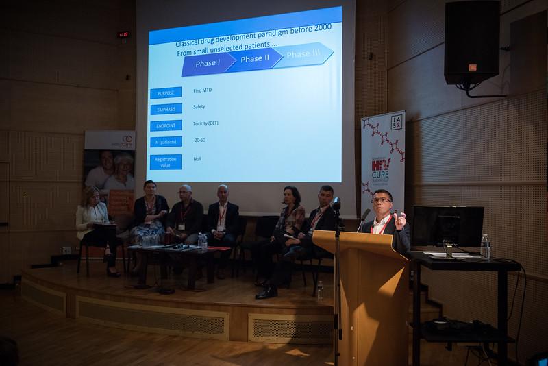 9th IAS Conference on HIV Science (IAS 2017) Paris, France. Copyright: Marcus Rose/IAS  Image Shows: IAS HIV Cure & Cancer Forum. Session 6: Clinical Trial Design and Participation.  Jean-Philippe Spano, Pitié-Salpêtrière University Hospital, France.