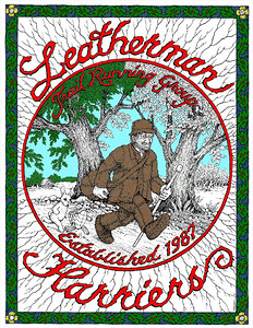 In progress Leatheman Harriers Club shirt design. Colors are still being worked out - design will be completed in the next few weeks.