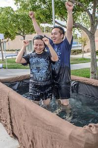 irvine Sunday worship baptism - photo by Allen Siu