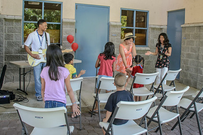 Irvine University High School Sunday worship - photo by Allen Siu