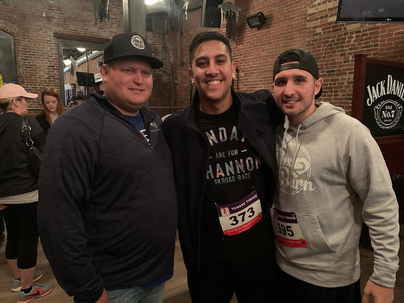 From left, Pete Patenaude, Lukas Nascimento and The Z-List's boxing trainer, Sean Eklund, all of Lowell