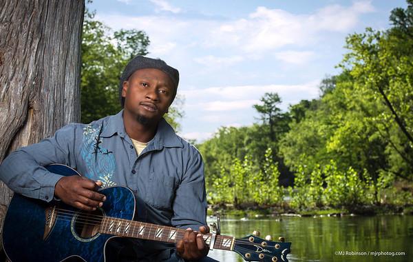 Gospel Musician Hilton Johnson On the Guadalupe River.