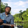 Gospel Musician Hilton Johnson On the Guadalupe River.
