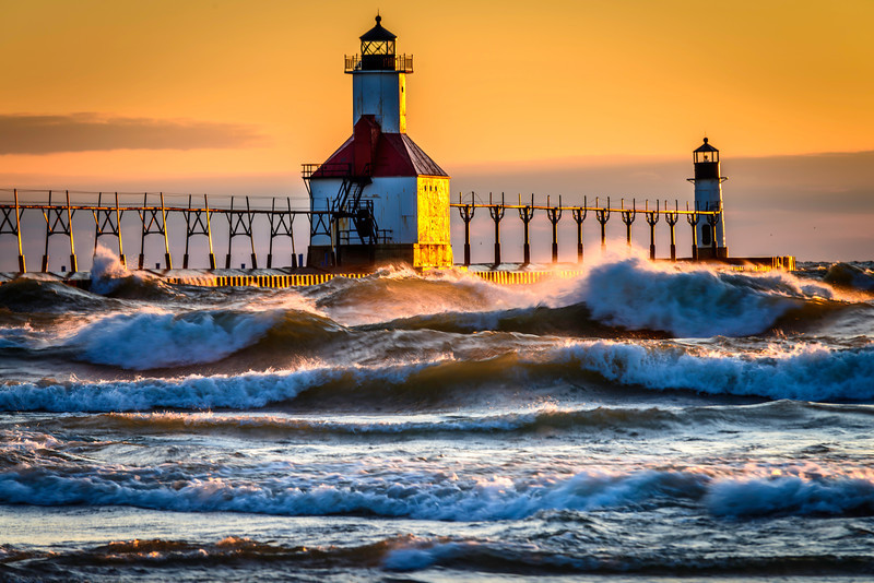 Lighthouse & Waves
