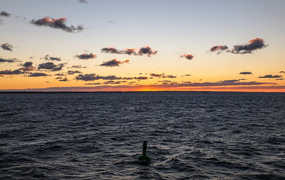 Ferry trip between Rostock and Rødby in the sunset. Photo: Martin Bager