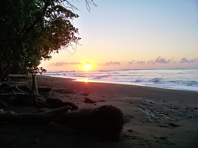 ....sunrise. From the same beach. Around the corner from this shot I paddled out and caught incredible glassy lefts with the TWO local surfers. Panama.