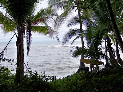 Checking the waves. Secret Spot, Panama.