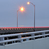 The angle of the bridges meant that I couldn't get any light trails of the passing cars taillights, but they were at the perfect height to make it look like the guardrail was glowing red hot.
