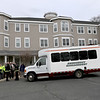Sunrise Senior Living in Leominster were getting a new van for their facility and trying to get rid of the old one that need some work. They offered it to the city and they ended up giving it to the city's Emergency Management who fixed it up for every department in the city to use if they needed it. On Thursday the old van, now fixed up, was brought back to Sunrise so they could show it off and so the city could thank them for their donation. SENTINEL & ENTERPRISE/JOHN LOVE