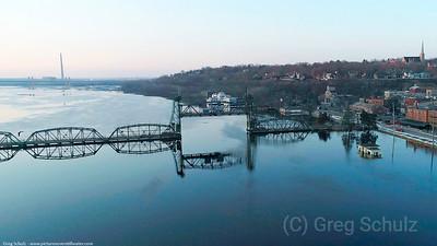 Eagle Heading For Bridge
