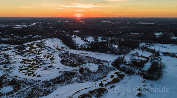 Late Fall Sunset over Western Stillwater and Loggers Trail Golf Course