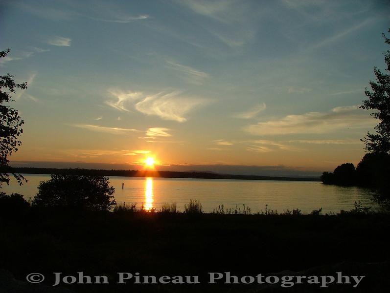 Sunset over Sebago Lake - Standish, Maine
