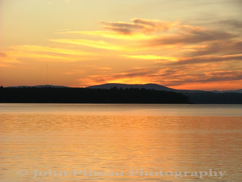 Sunset over Sebago Lake - Standish, Maine