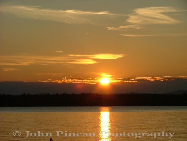 Sunset over Sebgao Lake - Standish, Maine
