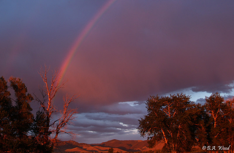 RB 026<br /> <br /> Rainbow over the ranch.