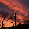 Sunset Cross - The sky lit up and standing on high the telephone pole reminded me of Easter.