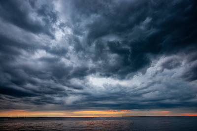 Sunset Storm over the Chesapeake