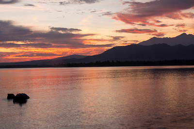 The gorgeous sunrise at Lombok,Indonesia