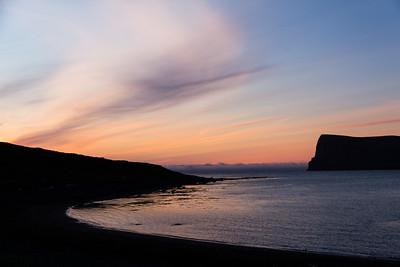 Hornvik Sunset Silhouette