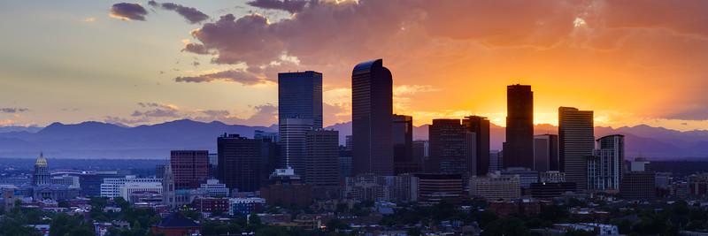 Denver Skyline Sunset