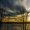 Setting sun at Spot Pond I