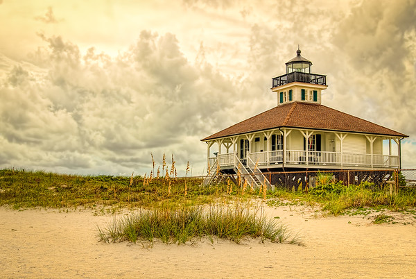 Boca Grande Lighthouse - Dramatic Sky Version