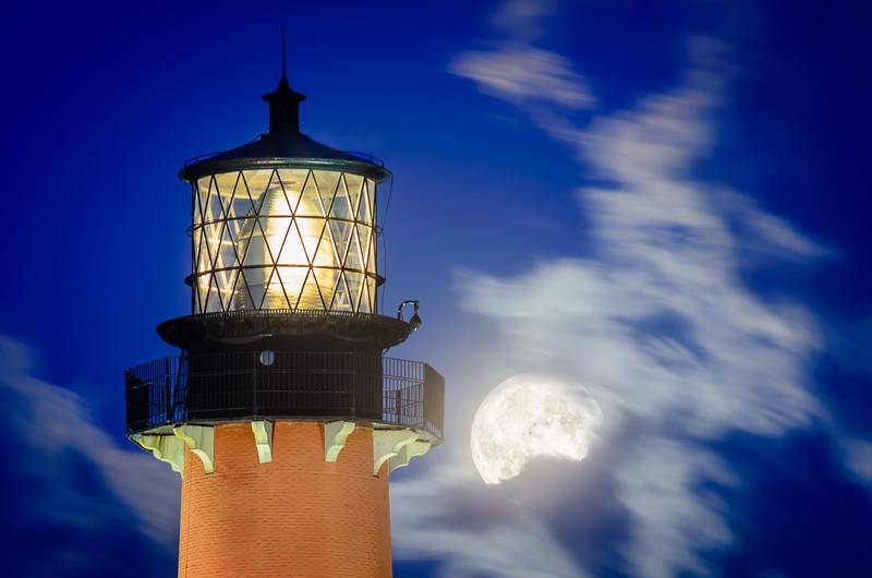 Jupiter Lighthouse Moonrise