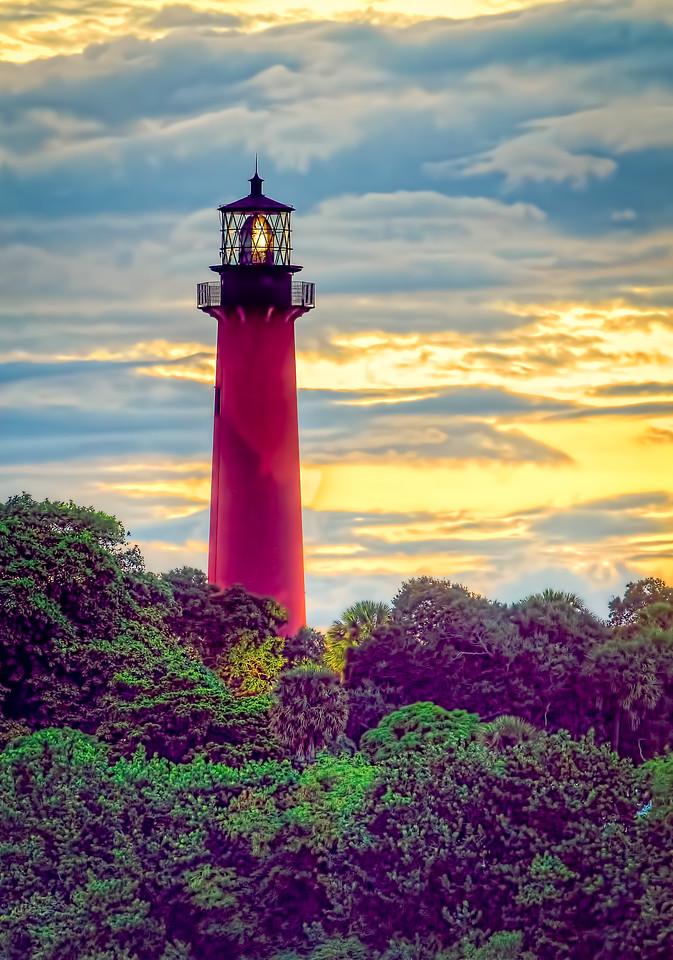 Jupiter Lighthouse - Sunset