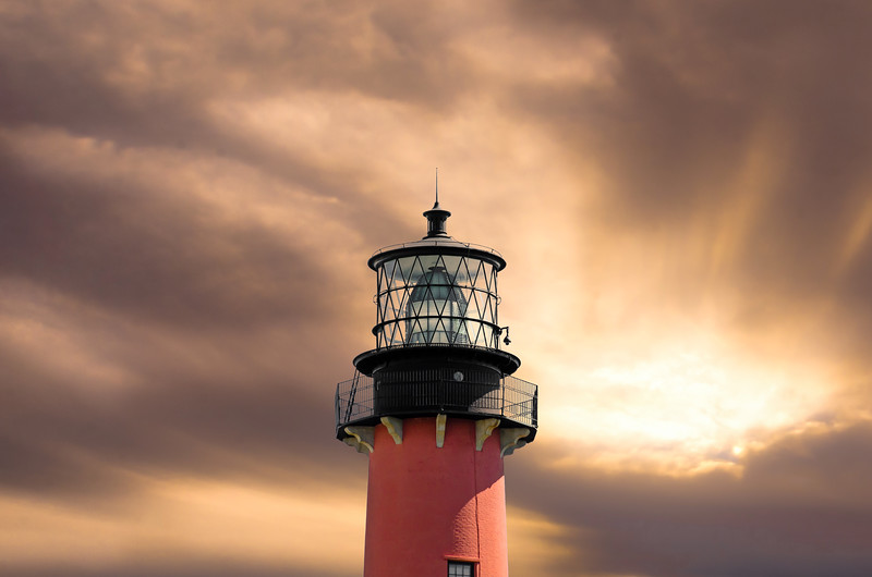 Jupiter Lighthouse - Morning Sunburst