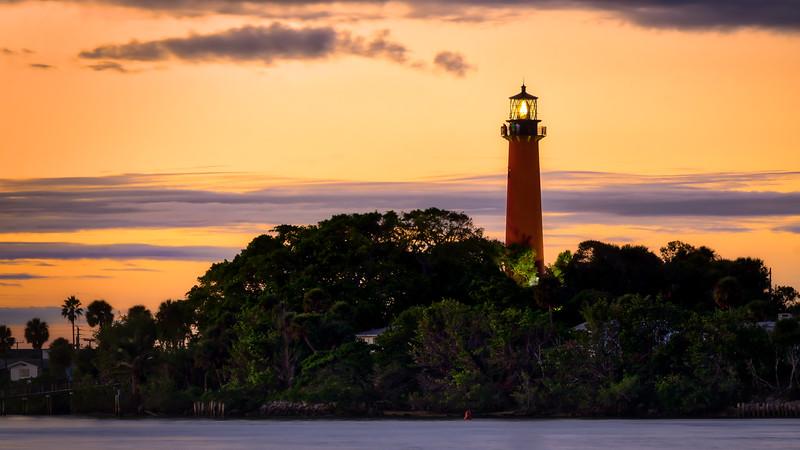 Florida Fall Sunset - Jupiter Lighthouse