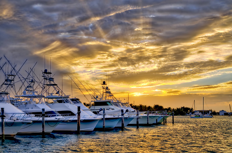 Sailfish Marina Sunset