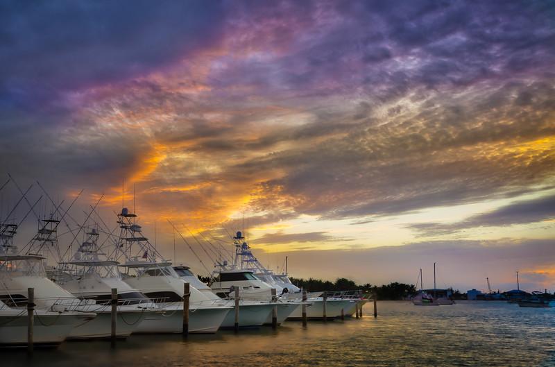 Sailfish Marina at Sunset