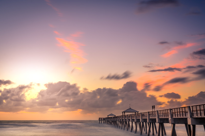 Juno Beach Pier - Long Exposure Sunrise