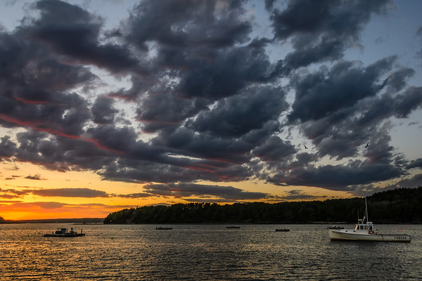 Bar Harbor Sunset - Lobster Boat