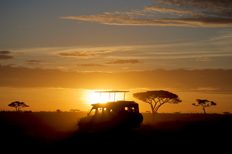 Sunset on Tanzania safari