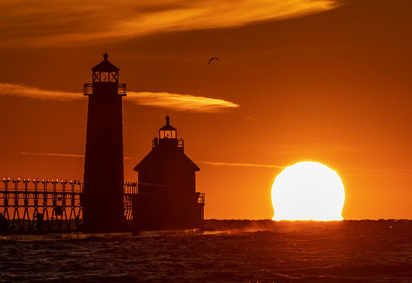 Huge Sunset in Grand Haven