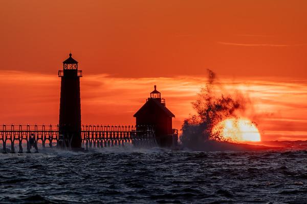 Lake Michigan Swallows the Sun