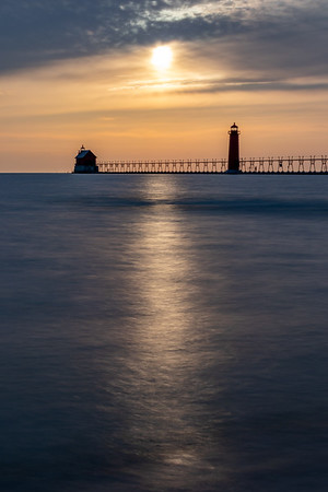 Smoooooth Grand Haven Sunset
