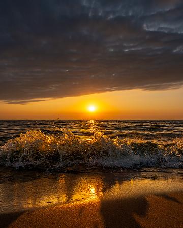 Sunset at Oval Beach in Saugatuck