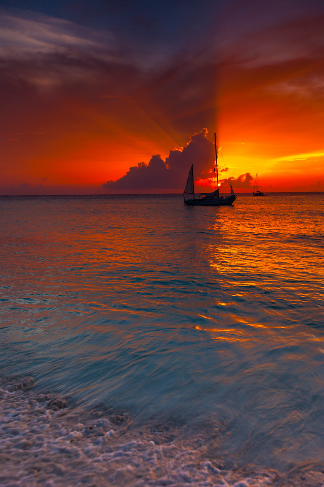 Red sail sunset