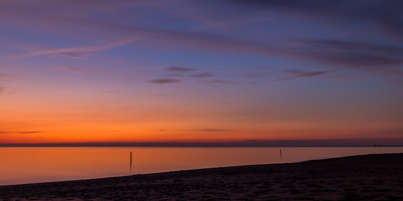 Afterglow Over Lake Michigan