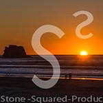 Twin Rocks Sunset