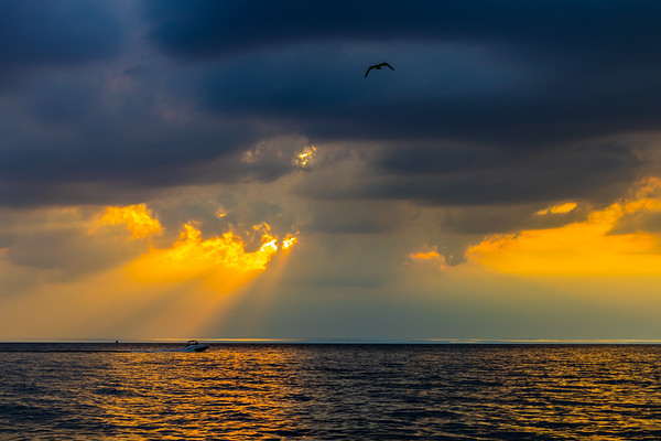 Sun Rays Over Lake Michigan