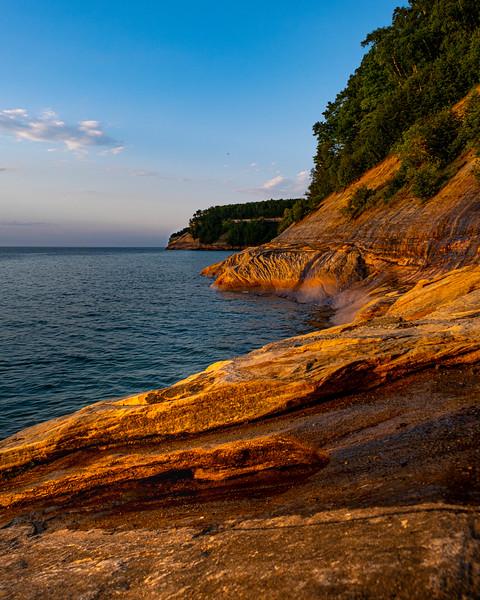 Pictured Rocks in Golden Light