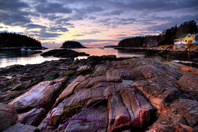 Sunrise at Five Island, Georgetown, Maine