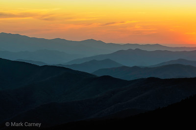 smoky mountain sunset 2