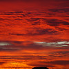 The sky's on fire.  The most incredible sunrise I have ever seen.  Baja