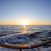 Pacific Ocean Sunset off Searcher with my Fisheye lens