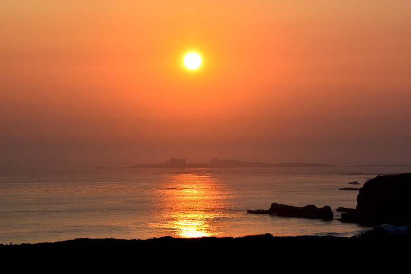 Ano Nuevo State Park .  Sunset during the Northern California Fires